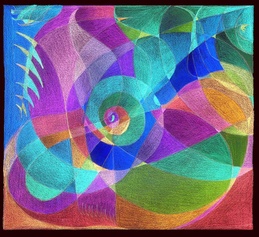 scarf pattern orchids inverted colors painting by