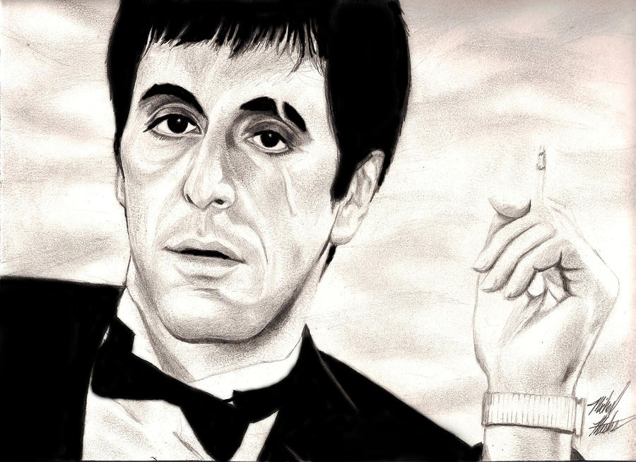 Scarface drawing by michael mestas - Scarface images ...