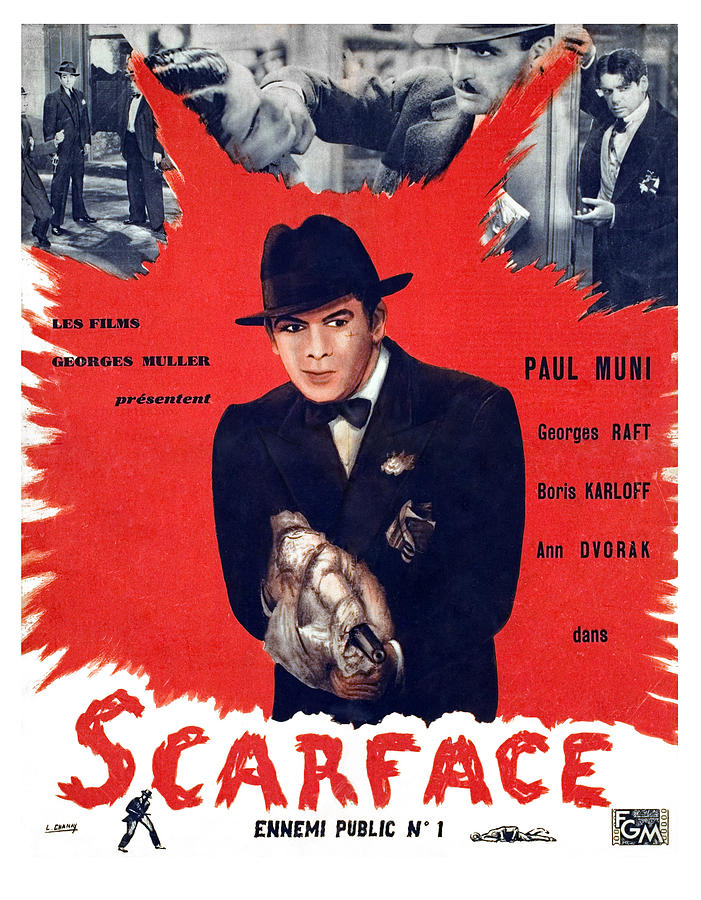 Scarface, Paul Muni, 1932 Photograph