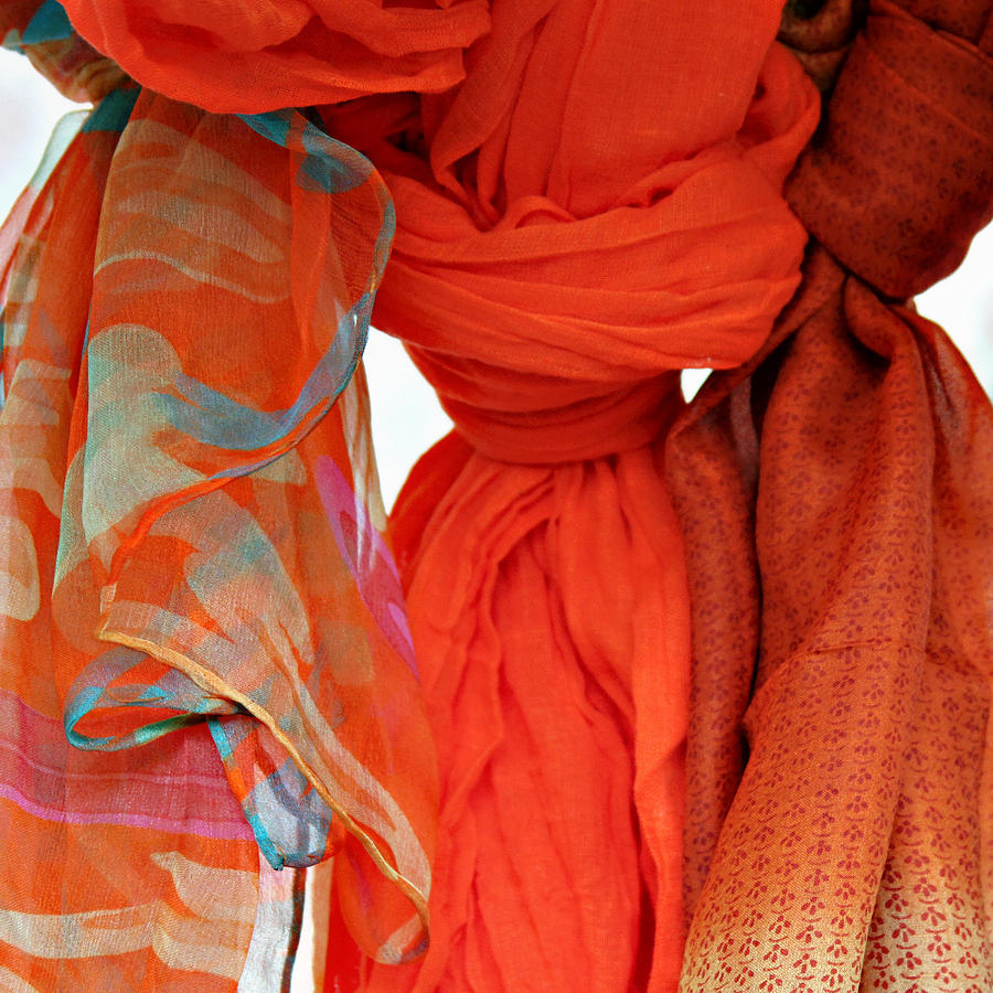 Fabric Photograph - Scarves by Tony Grider