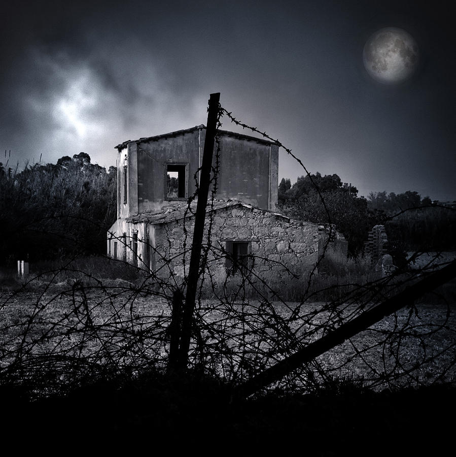 Aged Photograph - Scary House by Stelios Kleanthous