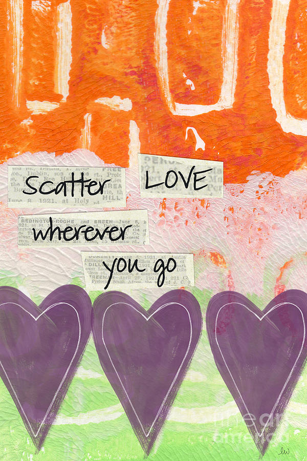 Scatter Love Mixed Media  - Scatter Love Fine Art Print