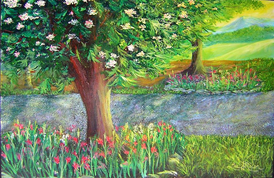 Scene Alongside A Gravel Road Painting
