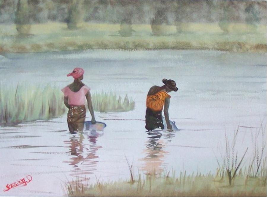 Scene Dafrique  Scene Of Africa Painting