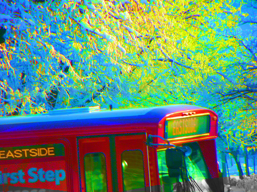 Abstract Photograph - Scene From The Bus Station by Lenore Senior