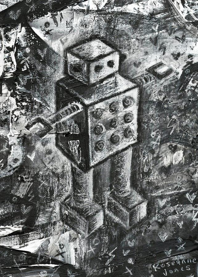 Scene Kid Robot Painting