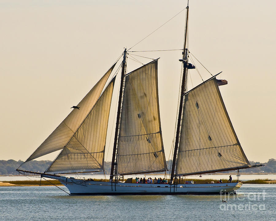 Boat Photograph - Scenic Schooner by Al Powell Photography USA