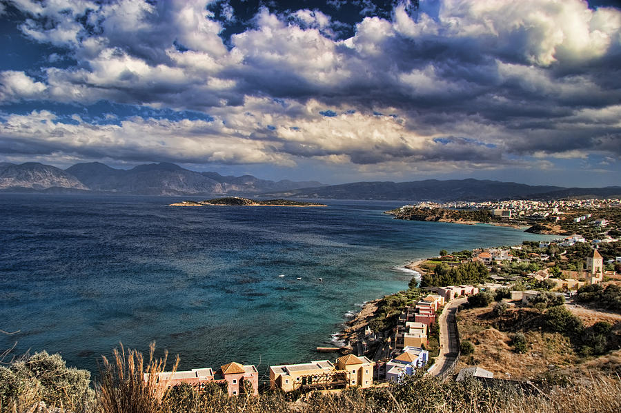 Scenic View Of Eastern Crete Photograph