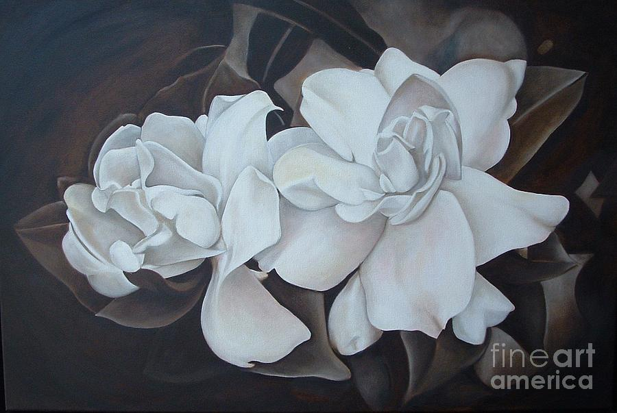 Scent Of Gardenias Painting  - Scent Of Gardenias Fine Art Print