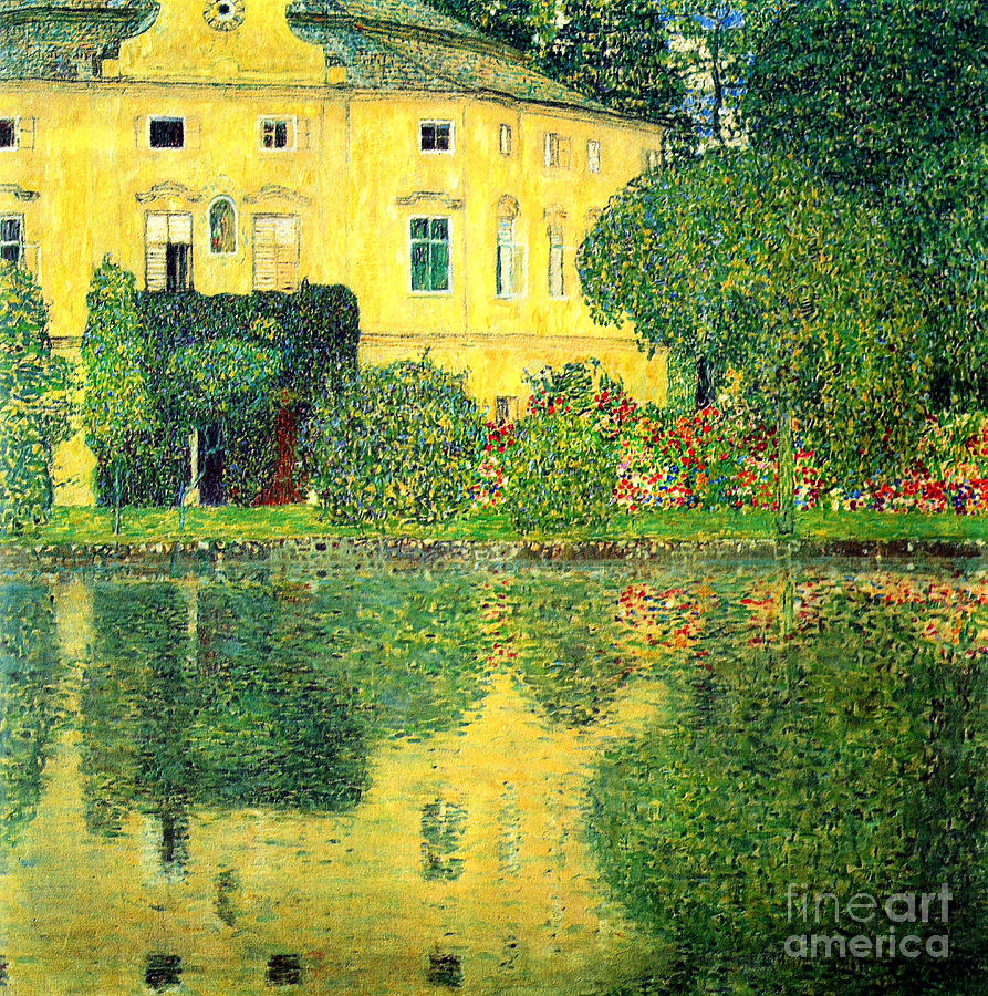 Schloss Kammer On The Attersee Painting