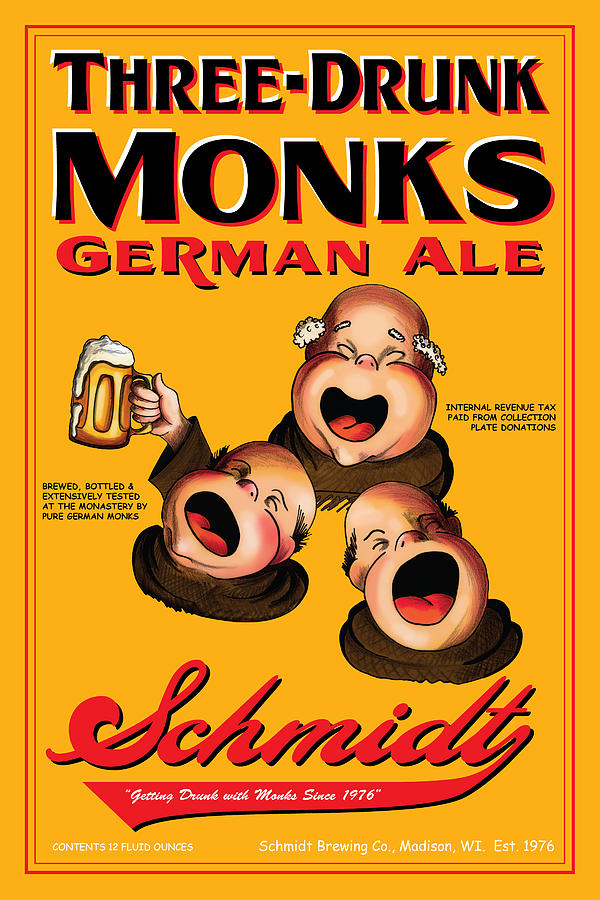 Schmidt Three Drunk Monks Drawing