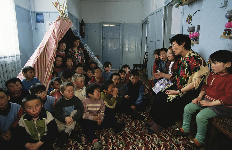 School Children Sing Traditional Songs Photograph