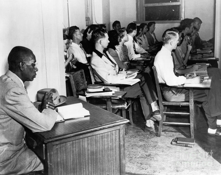 School Segregation, 1948 Photograph  - School Segregation, 1948 Fine Art Print