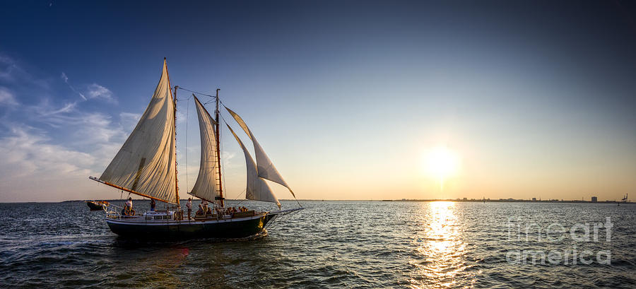 Schooner Welcome Sunset Charleston Sc Photograph  - Schooner Welcome Sunset Charleston Sc Fine Art Print