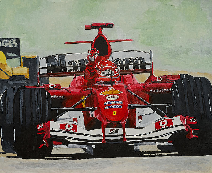 Schumacher Wins Painting  - Schumacher Wins Fine Art Print