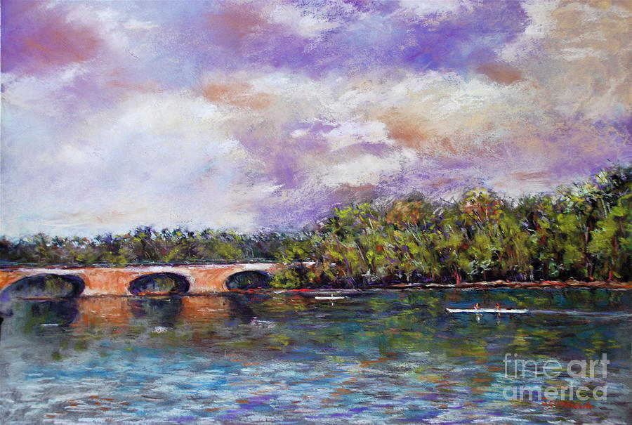 Schuylkill River Rowers Painting
