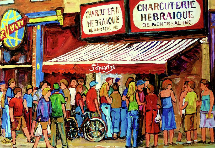 Schwartzs Deli Lineup Painting