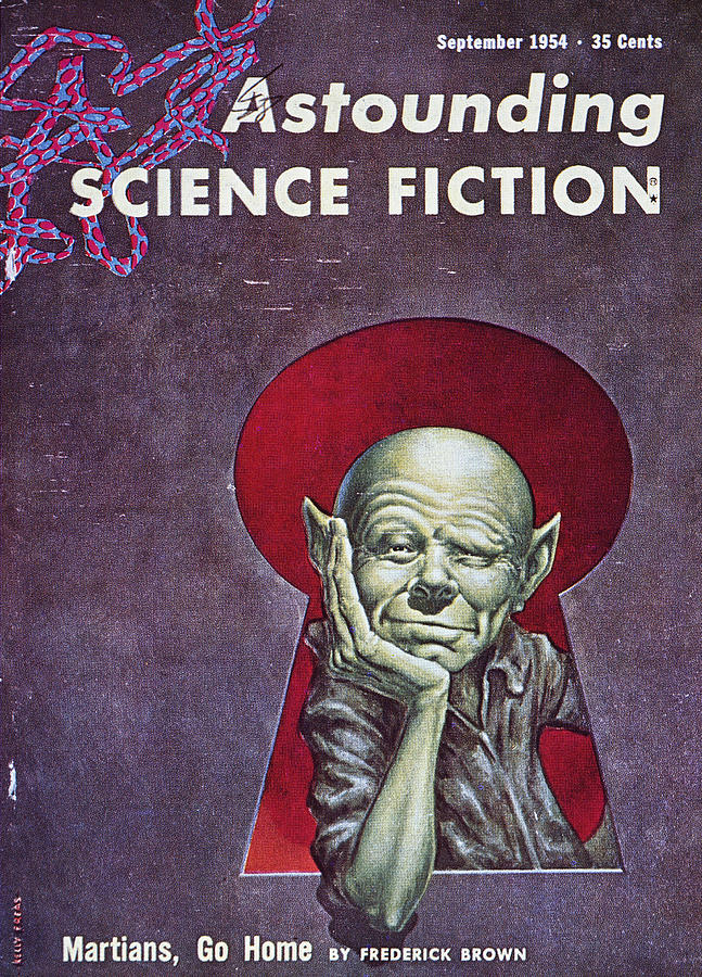 Science Fiction Cover, 1954 Photograph  - Science Fiction Cover, 1954 Fine Art Print
