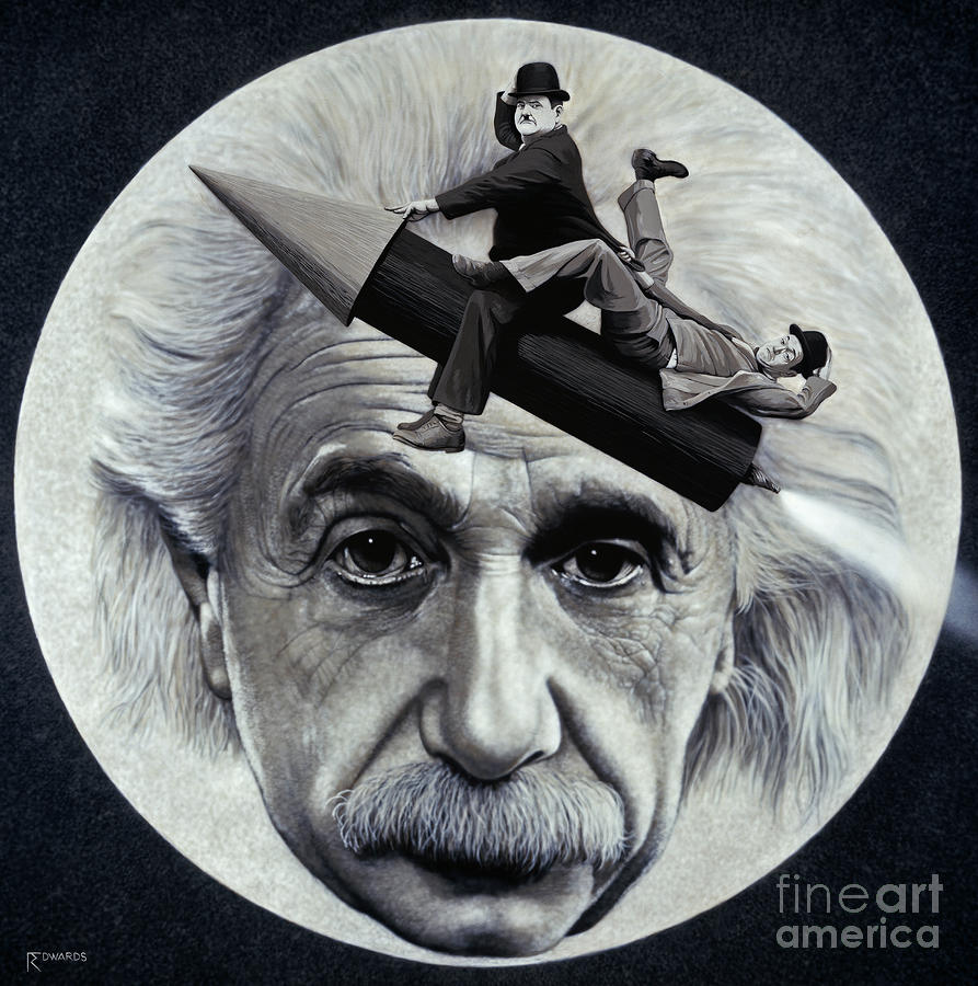 Scientific Comedy Painting  - Scientific Comedy Fine Art Print