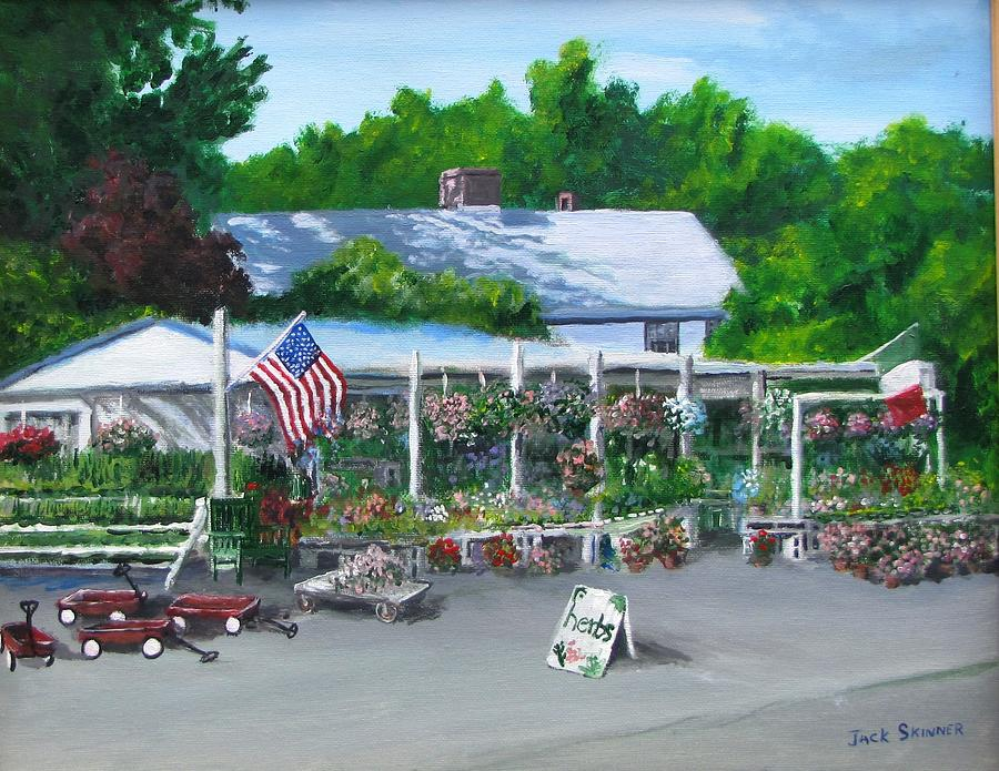 Farm Stand Painting - Scimones Farm Stand by Jack Skinner