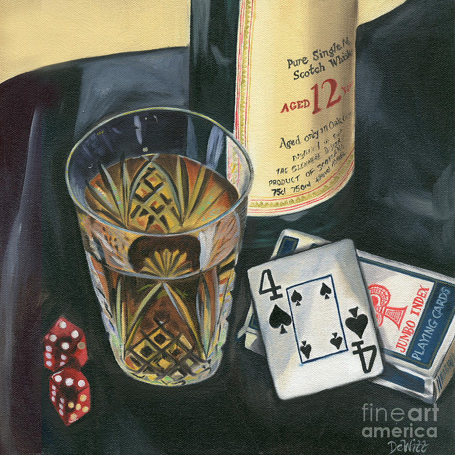 Scotch And Cigars 2 Painting  - Scotch And Cigars 2 Fine Art Print