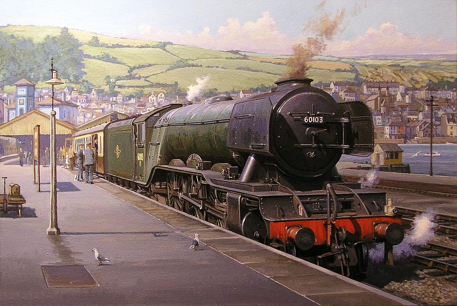 Scotsman At Kingswear Painting
