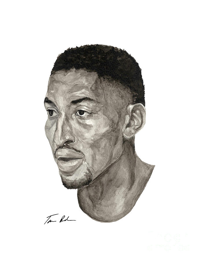 Scottie Pippen Painting  - Scottie Pippen Fine Art Print