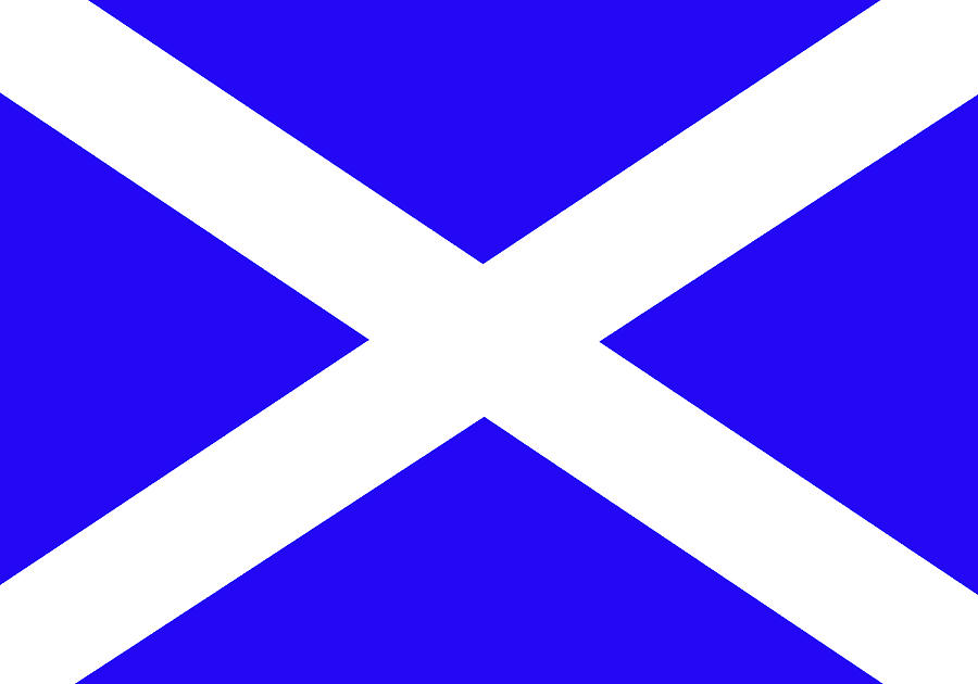 how to draw scottish flags