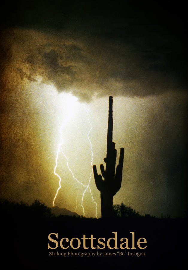 Scottsdale Arizona Fine Art Lightning Photography Poster Photograph