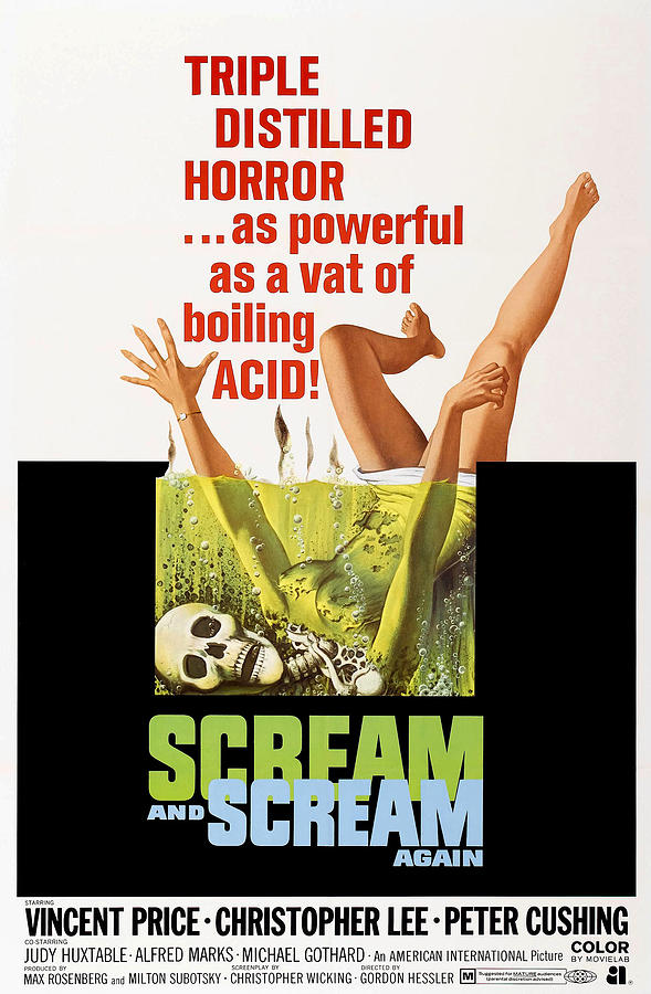 Scream And Scream Again, 1-sheet Poster Photograph  - Scream And Scream Again, 1-sheet Poster Fine Art Print