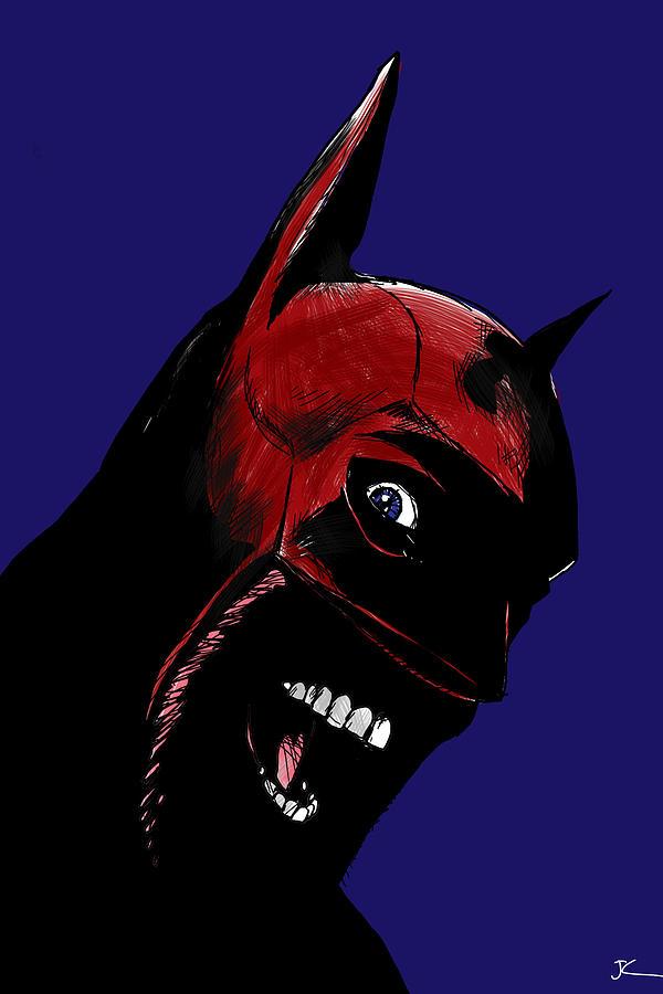 Superhero Drawing - Screaming Superhero by Giuseppe Cristiano