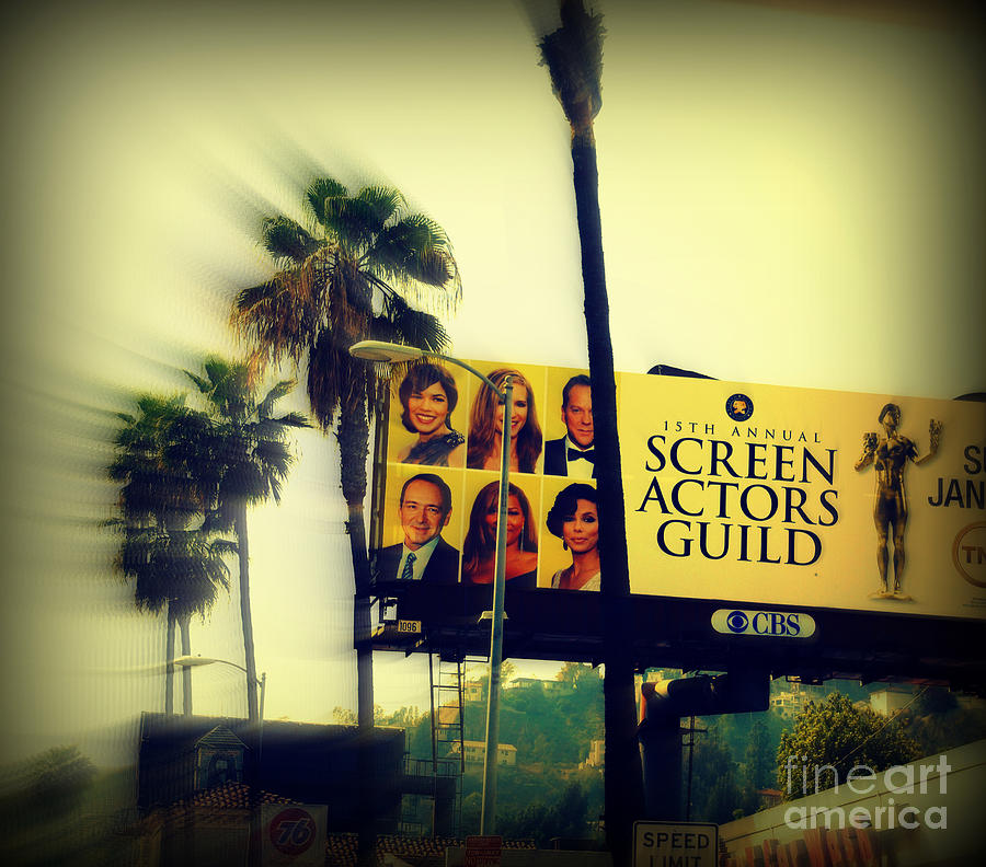 Hollywood Photograph - Screen Actors Guild In La by Susanne Van Hulst