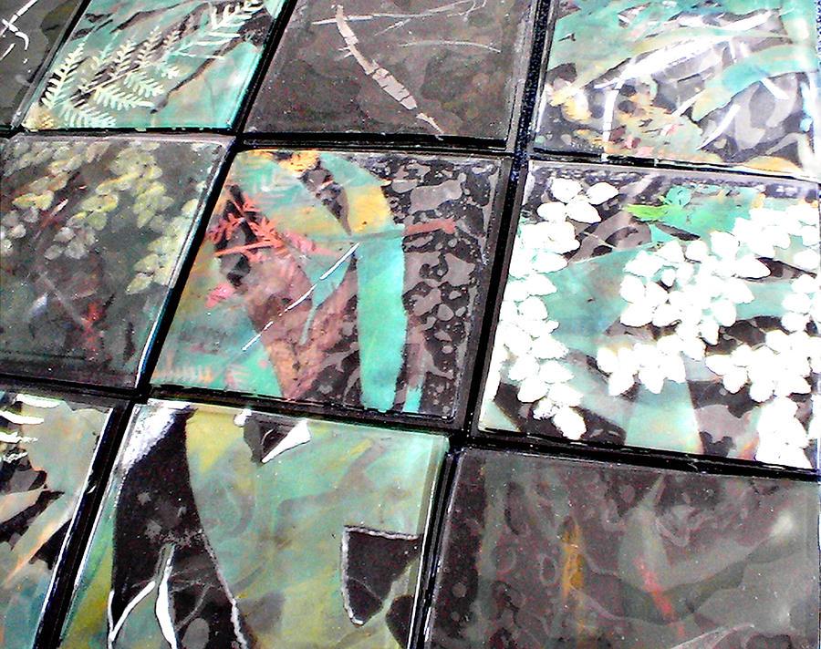Screen Printed Glass Tiles Glass Art