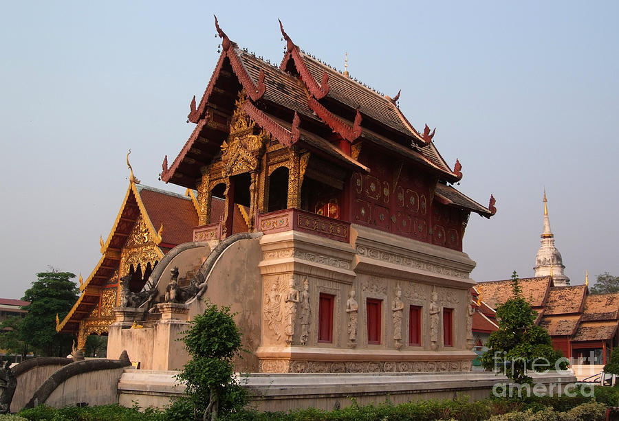 Scripture Repository Wat Phra Singh Chiang Mai Photograph