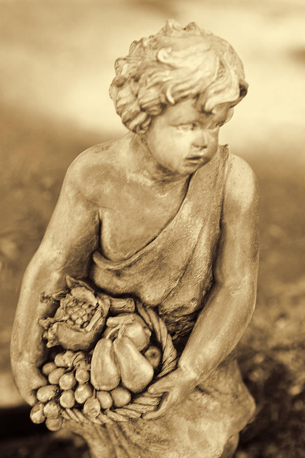Sculpture In Sepia Pyrography  - Sculpture In Sepia Fine Art Print