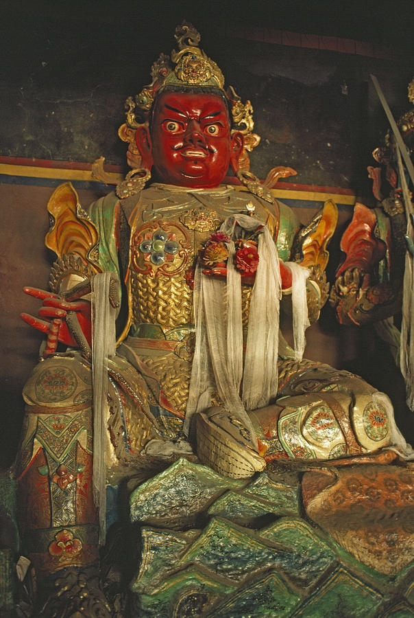Sculpture Of Wrathful Protective Deity Photograph