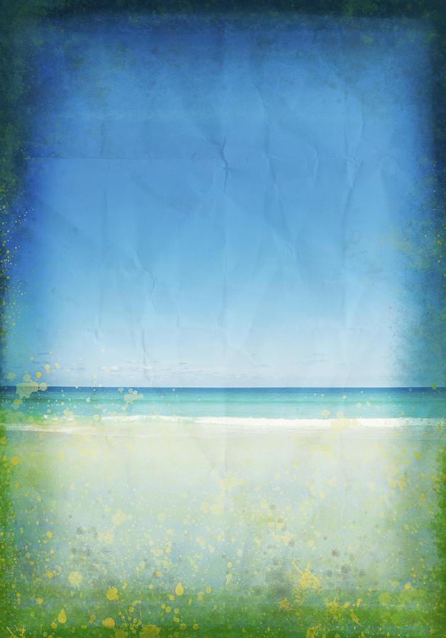 Abstract Photograph - Sea And Sky On Old Paper by Setsiri Silapasuwanchai