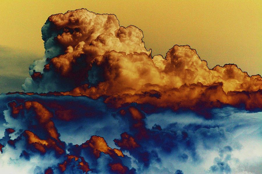Cumulonimbus Photograph - Sea And Sky by One Rude Dawg Orcutt