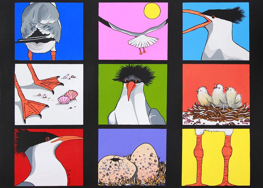 Sea Bird Kaleidoscope Painting