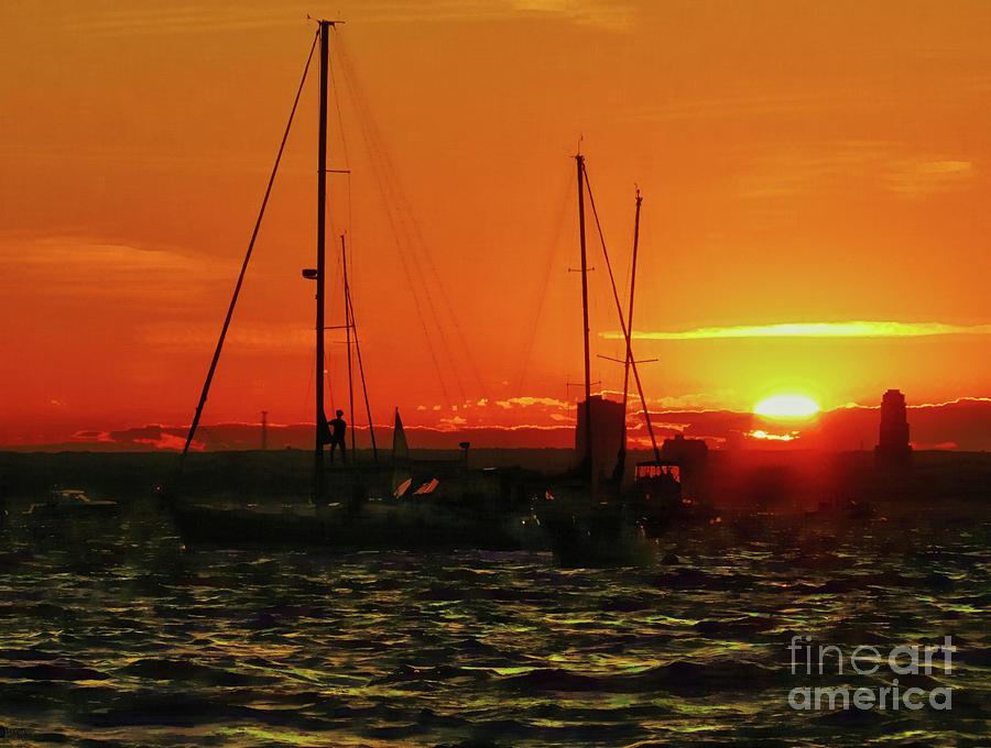 Sea Cliff Sunset Photograph