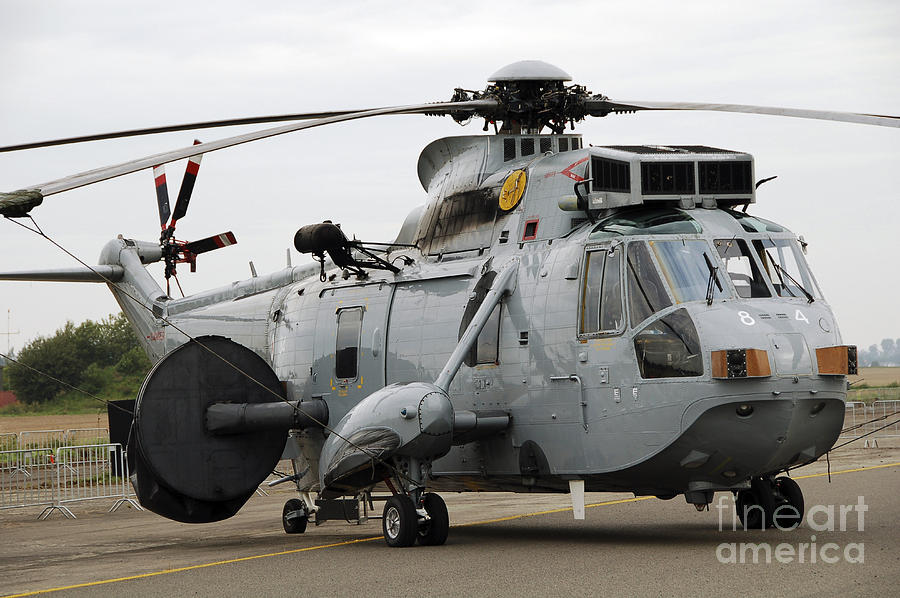Sea King Helicopter Of The Royal Navy Photograph  - Sea King Helicopter Of The Royal Navy Fine Art Print
