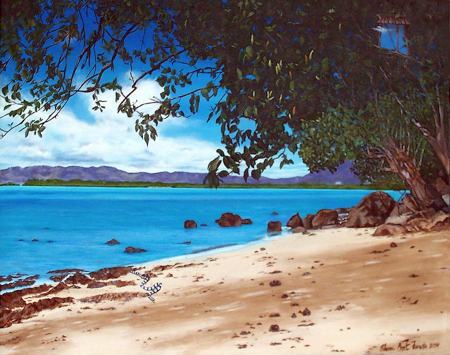 Sea Krait With Chilis Painting