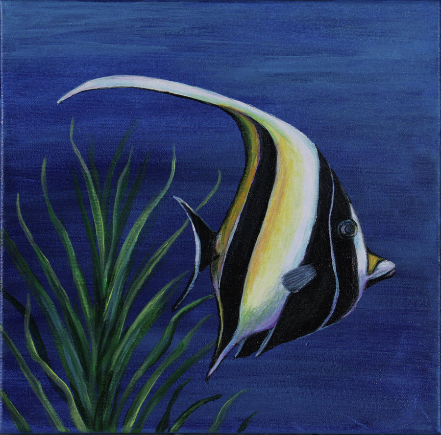 Sea life i by gabriela valdes for Sea life paintings artists