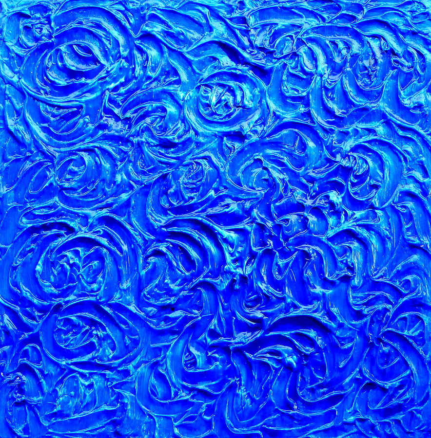 Sea Of Blue Painting  - Sea Of Blue Fine Art Print