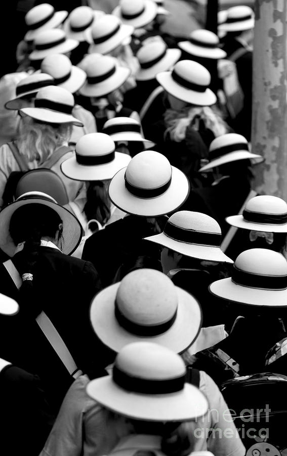 Sea Of Hats Photograph  - Sea Of Hats Fine Art Print