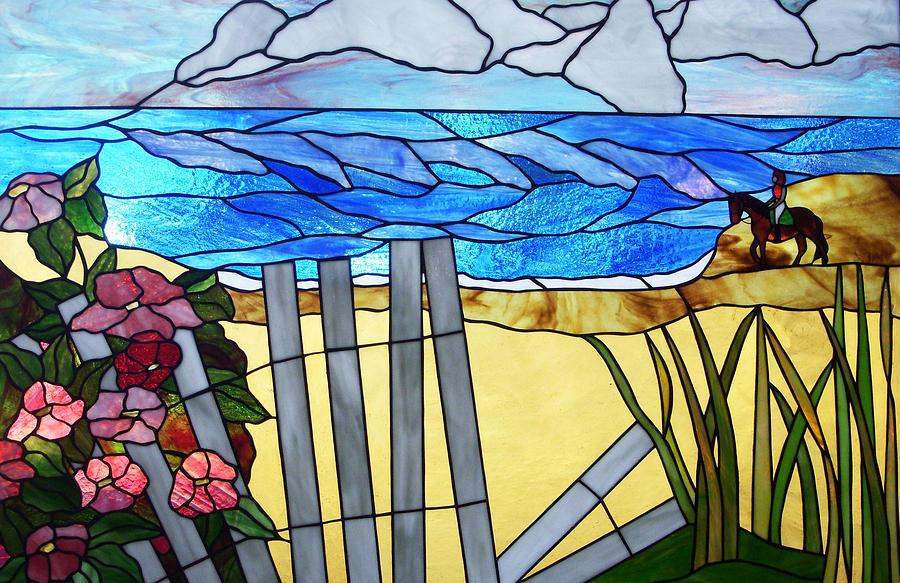 Sea Glass Art - Sea Roses - Rosa Rugosa by Jane Croteau