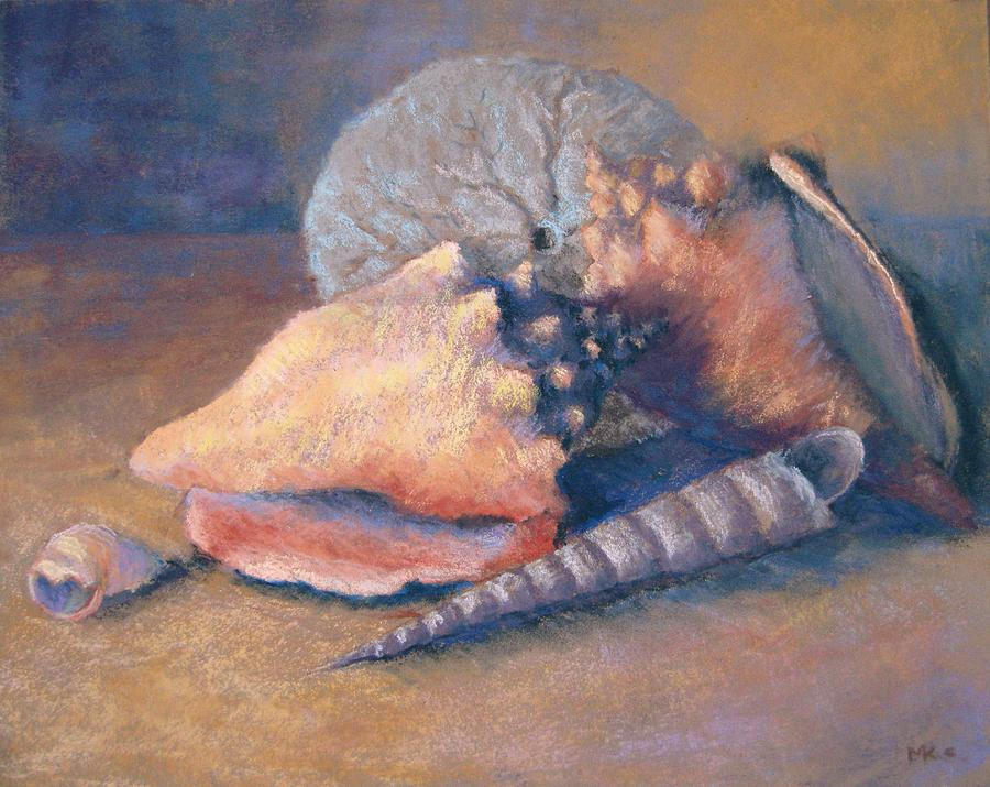 Sea Shells - Conch Pastel  - Sea Shells - Conch Fine Art Print