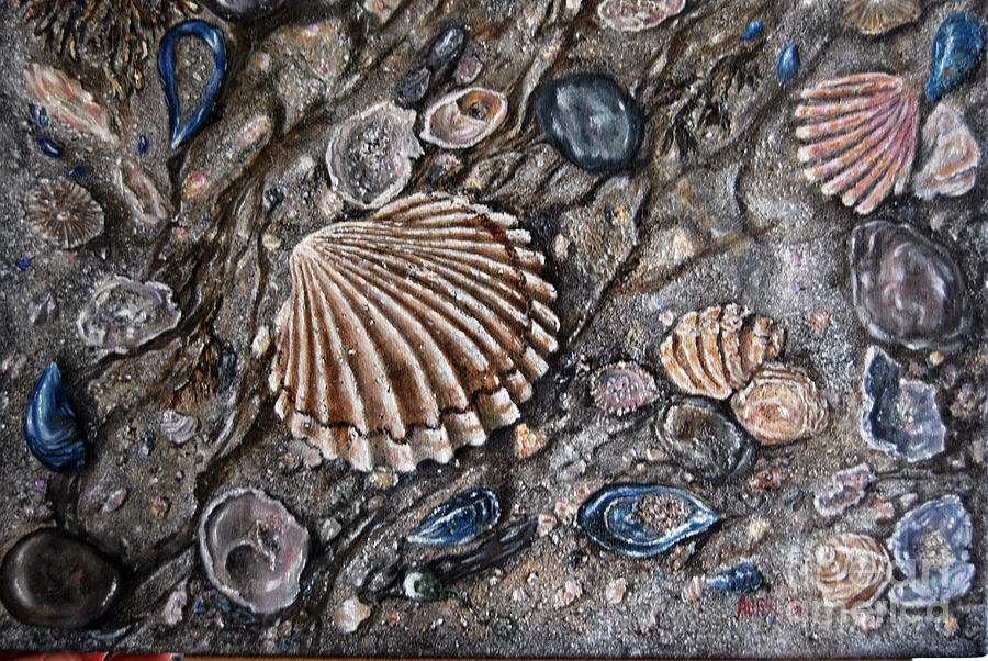 Sea Shore Painting  - Sea Shore Fine Art Print