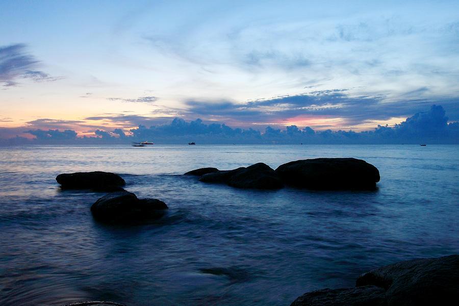 Sea Sunrise Glass Art