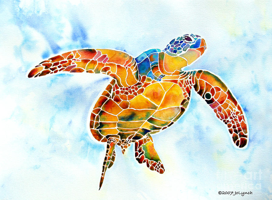 Sea Turtle Gentle Giant Painting  - Sea Turtle Gentle Giant Fine Art Print